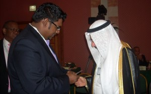 Minister Irfaan Ali meets His Excellency Iyad Madani, Secretary General of the OIC today June 19, 2014.