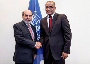 FAO Director General Jose Graziano Da Silva meeting Dr. Jagdeo, former President of Guyana