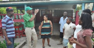 Granger interacts  with some of the residents of Mocha.