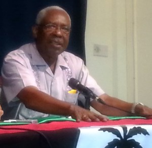 General Secretary of the PNCR, Oscar Clarke. [iNews' Photo]