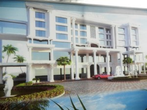 An artist impression of  what the Hotel will look like.