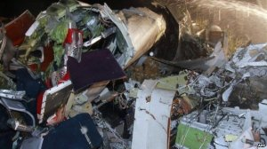 Rescuers were confronted with a scene of devastation at the site of the crash