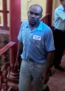 Roger Samuels following his appearance at the Georgetown Magistrates' Court. [iNews' Photo]