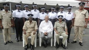 Minister Rohee, Police Commissioner, Seelall Persaud and the traffic wardens. [iNews' Photo]