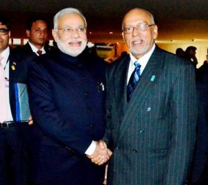 President Donald Ramotar and Indian Prime Minister Narendra Modi
