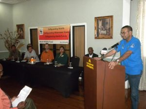 Minister of Natural Resources and the Environment, Robert Persaud