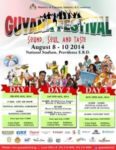 guyana festival flyer
