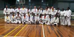 The top performers display their medals