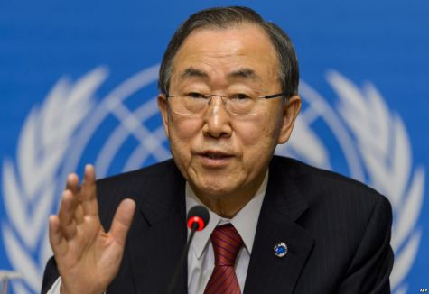 UN Chief Ban Ki Moon