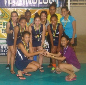 GCC girls pose with their trophy