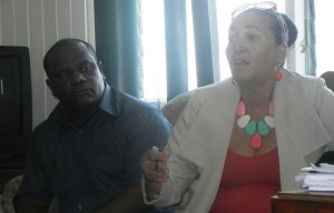 Public Relations Officer, Royston King and Deputy Mayor, Patricia Chase - Green. [iNews' Photo]