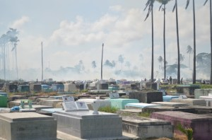 Tombs now clearly visible at Le Repentir. [GINA Photo]