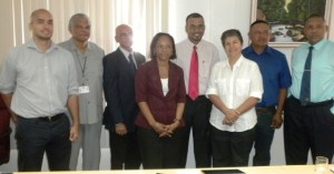 Minister Persaud and members of the National Protected Areas Trust Fund.