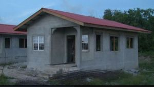 One of the turn-key houses at Perseverance, East Bank Demerara that is in its final stages