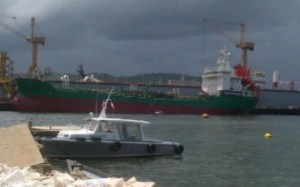 The Five Guyanese live on board this vessel, the M T Tumini