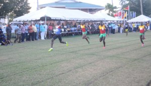 Winston George cruises to 200 metres victory. [iNews' Photo]
