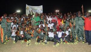 GDF celebrates win on home soil. [iNews' Photo]