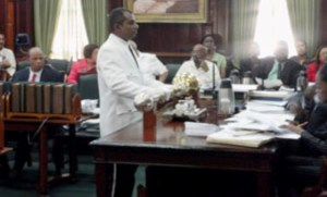 The Mace at Parliament.