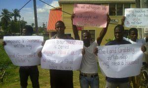 Plaisance protest 1