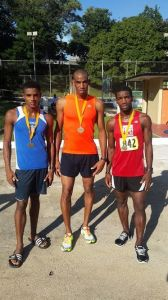 Lionel D'Andrade (middle) and Kelvin Johnson (right) after the event.