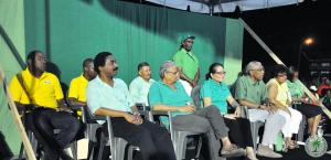 AFC Members share the platform with members of the APNU during a recent rally at the Square of the Revolution.
