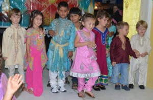 Students display their various religious clothing,