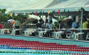 : Some of the swimming action at the pool on Tuesday, November18. [iNews' Photo]