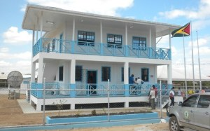 The new Guyana Geology and Mines Commission Building at Lethem, Region Nine.