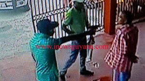 The gunmen in this photo escaped after committing the robbery.