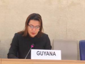 Foreign Affairs Minister, Carolyn Rodrigues in Geneva