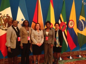 Guyana's delegation at the Forum