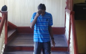 Abna Garner at the Georgetown Magistrates' Court. [iNews' Photo]