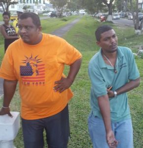 Drivers: Paul Persaud (left) and Michael Anthony.