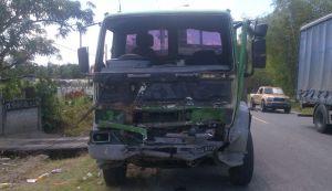 The damaged truck. [iNews' Photo]