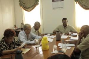 APNU members meet with GGDMA officials.