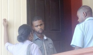 Michael Clarke at the Georgetown Magistrates' Court. [iNews' Photo]