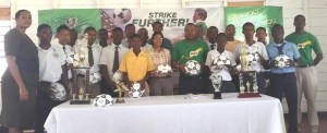 Organisers as well as some of the students from the participating schools at the handing over ceremony.