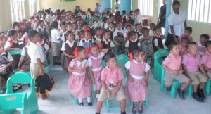 Students of Karawab in their new school.