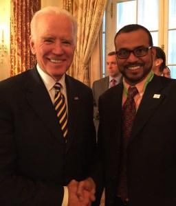 US Vice President, Joseph Biden and Minister Robert Persaud.