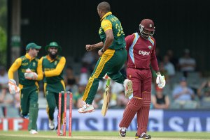 Vernon Philander had Chris Gayle caught behind cheaply which set the tone for the day