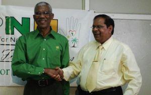 President David Granger and Prime Minister, Moses Nagamootoo