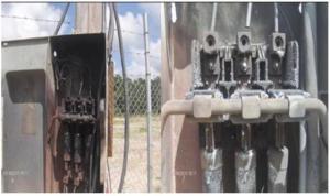The blown breaker panel