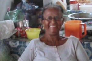 Dead. Suroojpattie Ramlakhan known as Auntie Carmen.