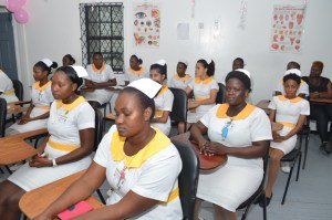 A section of the Nursing Assistants who completed training.