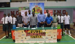 The sponsors as well as YBG officials and President of the GABF, Nigel Hinds at the launching. [iNews' Photo]
