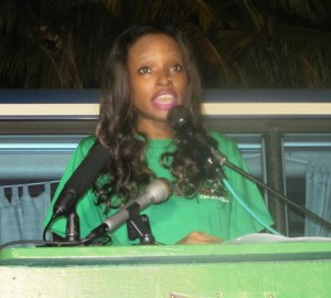 APNU Youth Candidate Malika Ramsey. [iNews' Photo]