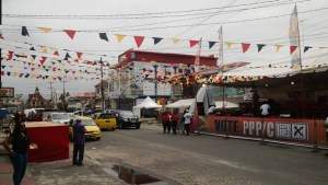Preparations ongoing in Kitty for the PPP rally. [iNews' Photo]