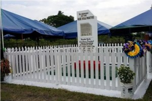 The Rosehall Martyrs monument, Canje, Berbice.