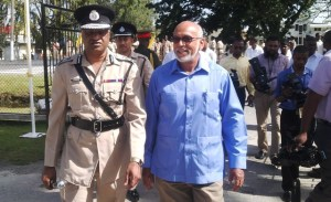 Commissioner of Police, Seelall Persaud and former President, Donald Ramotar