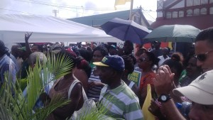 Section of the crowd at APNU+AFC manifesto launch